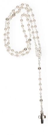 Rosenkranz mit weißen Glasperlen