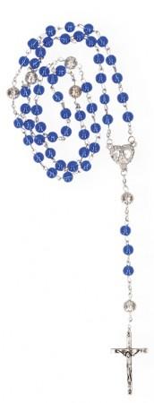 Rosenkranz mit blauen Glasperlen