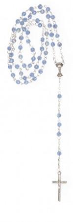 Rosenkranz mit hellblauen Glasperlen