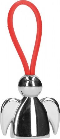 Schlüsselanhänger Engel mit rotem Kautschukband