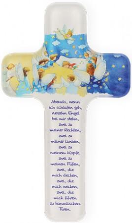 Kinderkreuz aus Acryl Vierzehn Engel