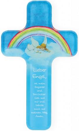 Kinderkreuz aus Acryl Lieber Engel