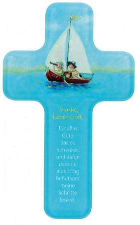 Kinderkreuz Dankgebet aus Acrylglas