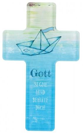 Kinderkreuz Gott segne und behüte dich aus Acrylglas