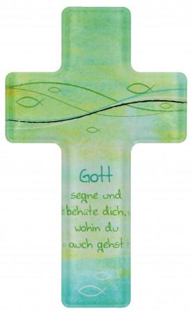 Acrylglas-Kreuz Gott segne und behüte dich