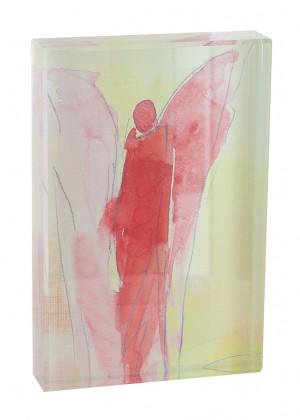 Glasquader zum Aufstellen Engel