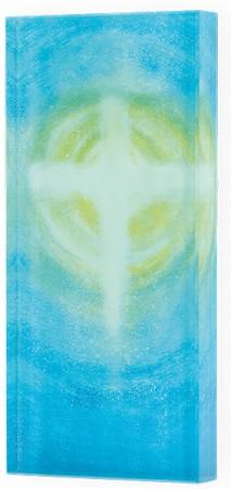 Glasquader zum Aufhängen Kreuz