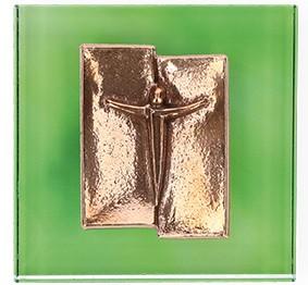 Glasrelief Kreuz