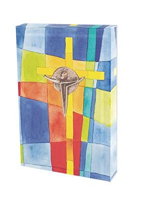 Glasquader zum Aufstellen Kreuz