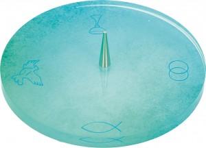 Symbolleuchter aus Glas