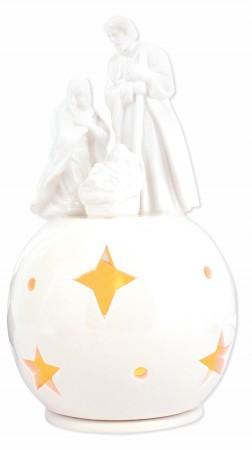 Porzellan-Figur Heilige Familie - mit Teelicht