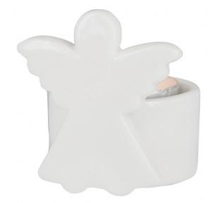 Porzellan-Figur Engel - mit Teelicht