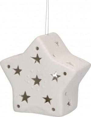 LichterZeit Stern aus Porzellan