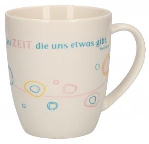 """Porzellan-Tasse """"Zeit"""""""