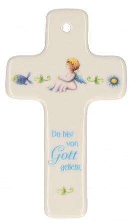 Porzellankreuz - Du bist von Gott geliebt