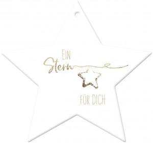 Stern-Anhänger aus Porzellan - Ein Stern für dich