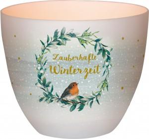 Windlicht aus Porzellan - Zauberhafte Winterzeit