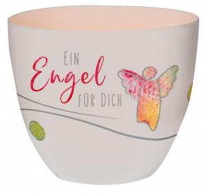 Windlicht aus Porzellan - Ein Engel für dich