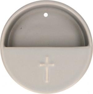 Keramik-Weihwasserbecken Kreuz