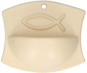 Keramik-Weihwasserbecken Fisch