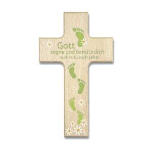 Holzkreuz - Gott segne und behüte dich ...