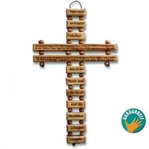 Holzkreuz - Vater Unser