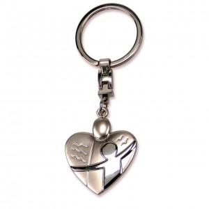 Schlüsselanhänger - Schutzengel / Herz