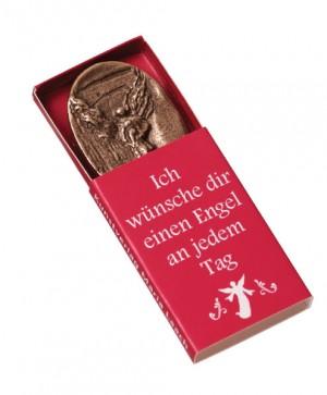 Persönlicher Schutzengel mit Kind aus Bronze