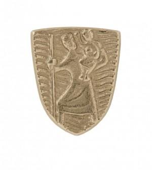 Autoplakette Christophorus aus Bronze