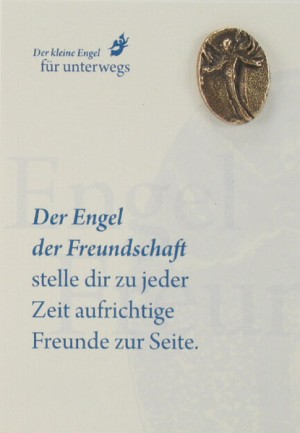 Engelkarte mit Handschmeichler: Engel der Freundschaft