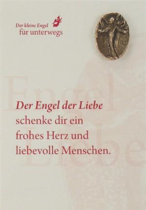 Engelkarte mit Handschmeichler: Engel der Liebe