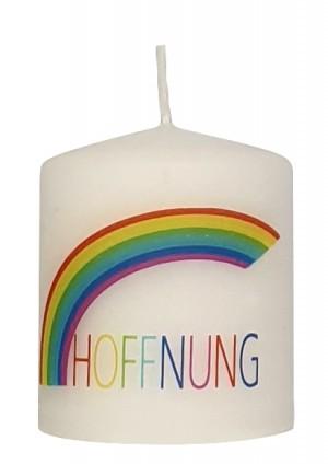 Kerze - Hoffnung - Regenbogen
