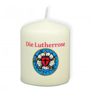 Kerze - Lutherrose