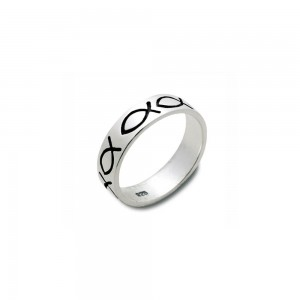 Ring Fische Sterlingsilber 18mm