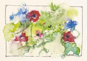 Anemone und Kornblume