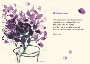 Winterabend Lyrik