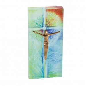 Glasrelief Quader mit Corpus