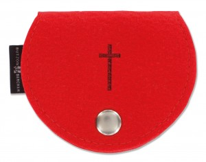 Filz-Rosenkranztäschchen Kreuz