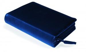 Gotteslobhülle Rindsleder DELUXE ohne Prägung blau