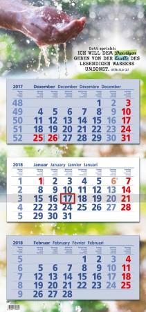 3-Monats-Kalender mit Jahreslosung 2018