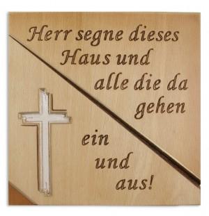 Haussegen Kreuz geschnitzt