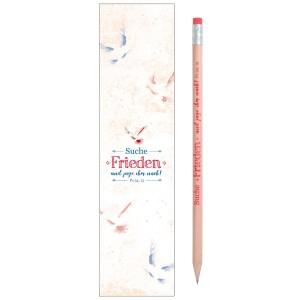Bleistift mit Lesezeichen und der Jahreslosung 2019