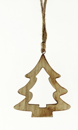 Tannenanhänger aus Holz natur