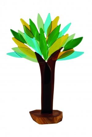 Lebensbaum auf Pflaumenbaumholz
