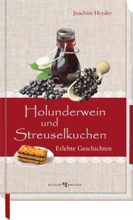 Holunderwein und Streuselkuchen