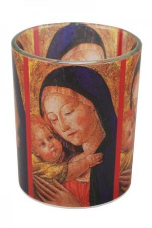 Glaswindlicht Madonna mit Kind