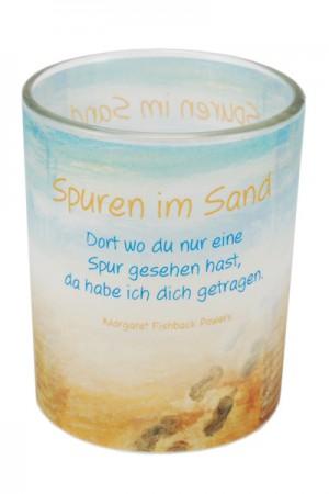 Glaswindlicht Spuren im Sand