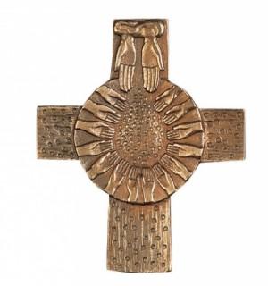Kreuz Brot vom Himmel - Bronze