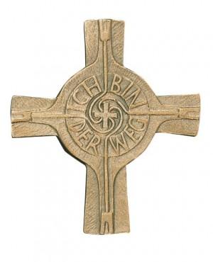 Bronzekreuz Ich bin der Weg