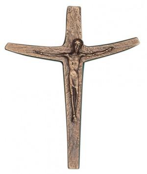 Bronzekreuz mit Körper - Größe: 15 x 18 cm